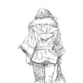 コートの女
