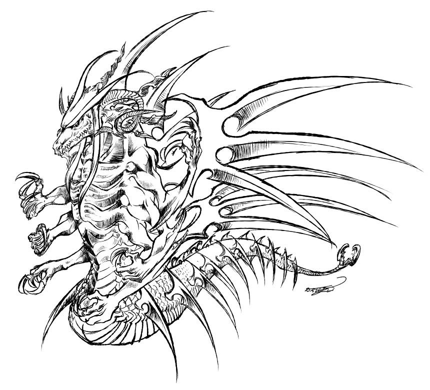 冥王の生前想像図(衣装なし)