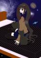 黒猫と宇宙とベッドと