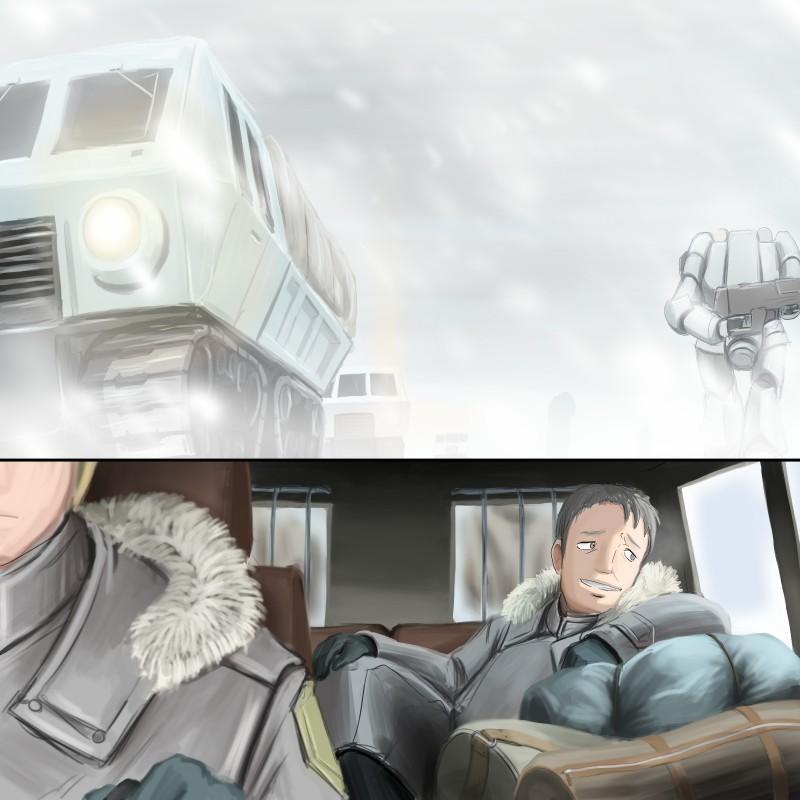 吹雪の行軍