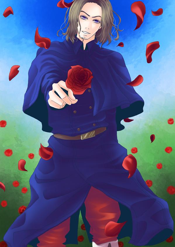 薔薇をどうぞお嬢さん。