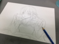 久々にイラストを描く。