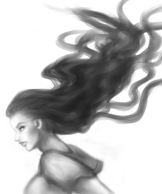 台風の時の由花子の髪