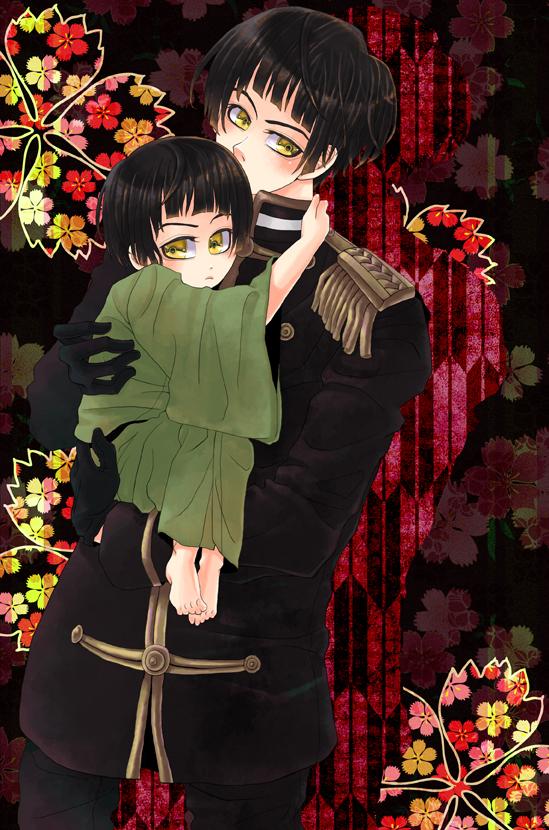 子菊を抱っこ。