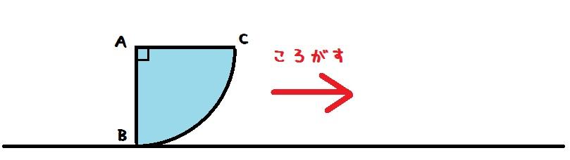 おうぎ形の軌跡