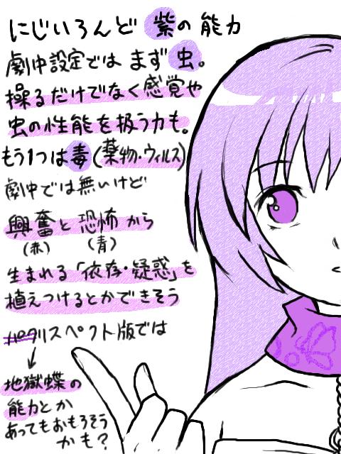 にじいろんどの色の話(紫)