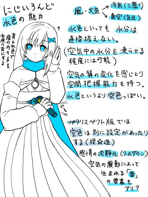 にじいろんどの色の話(水色)
