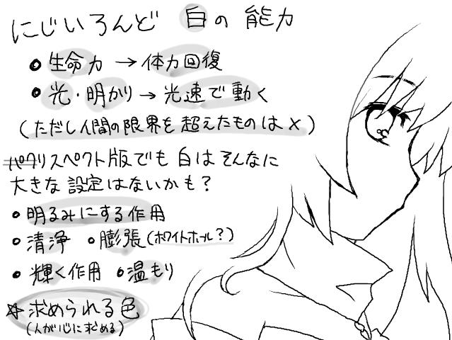 にじいろんどの色の話(白)
