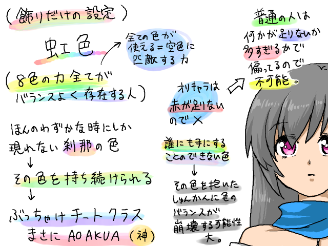 オリジナル色設定(虹)