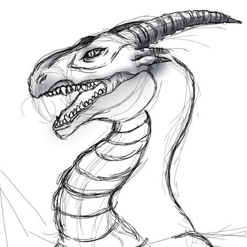 ラクガキドラゴン(顔)