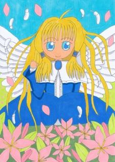 お花畑の天使
