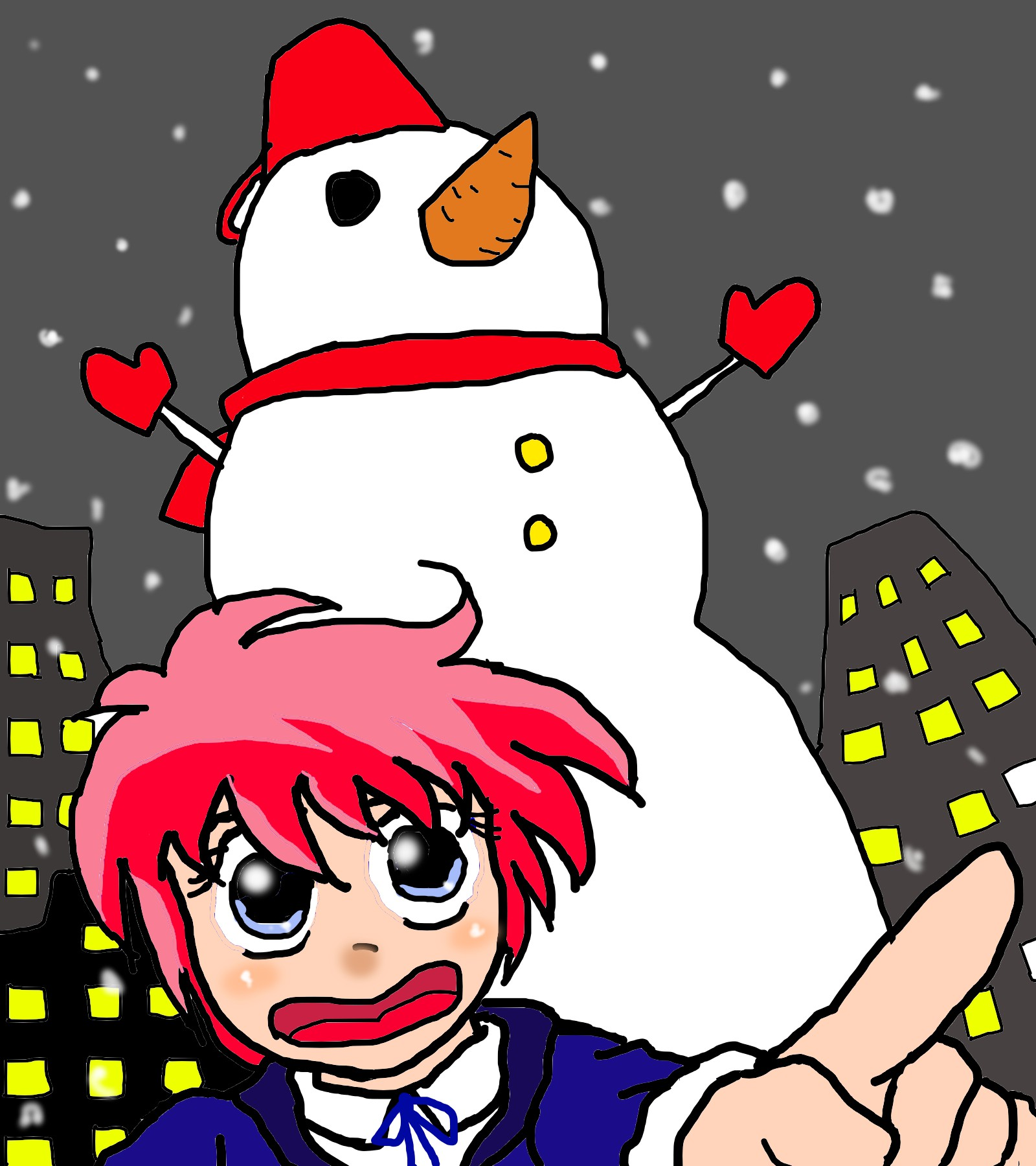ゆけ、雪人!