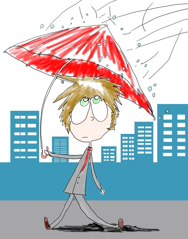 梅雨、風、負けず。