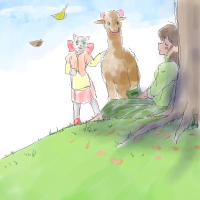 牧場(まきば)の初秋