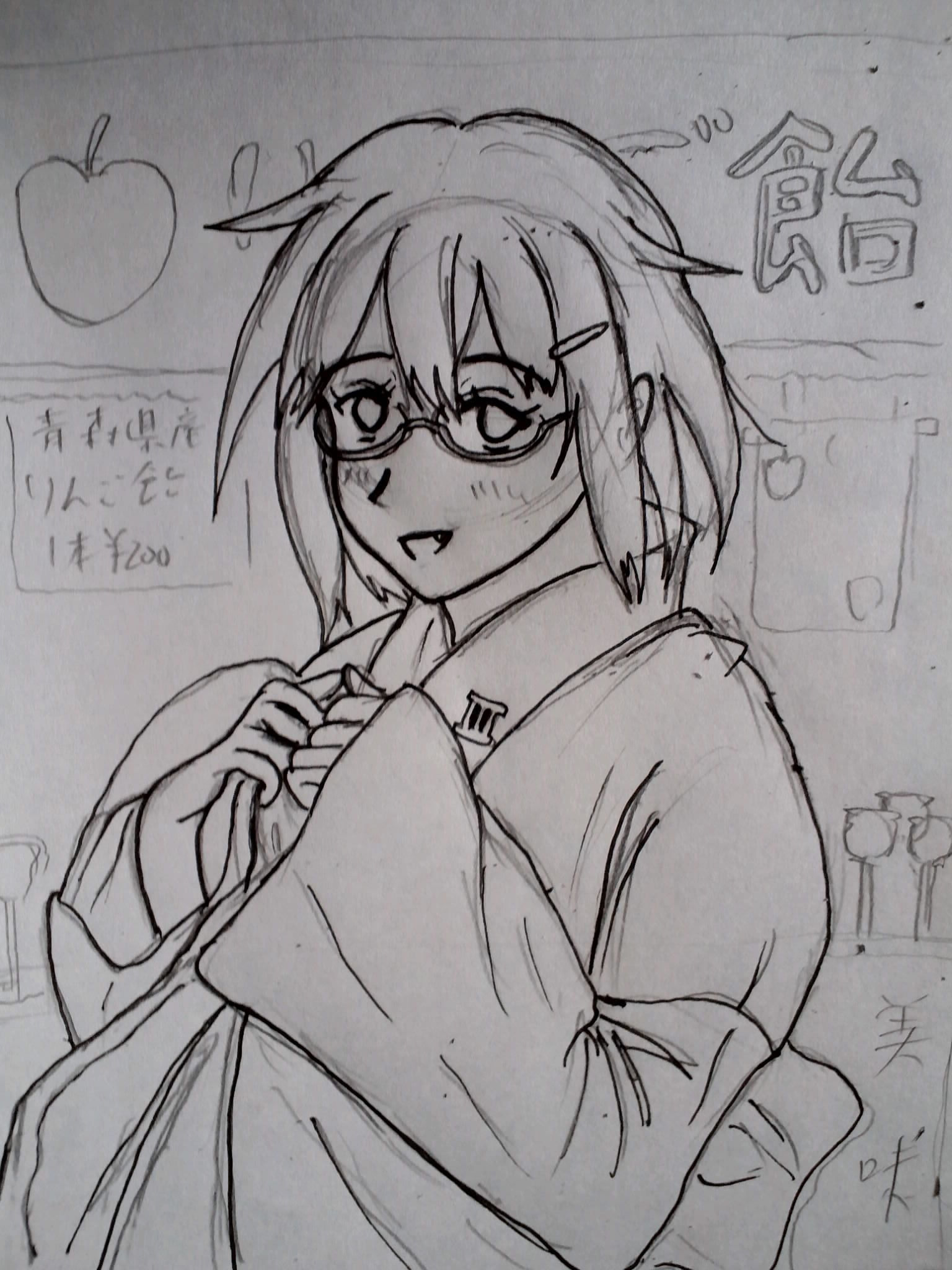 眼鏡っ娘な雷ちゃん