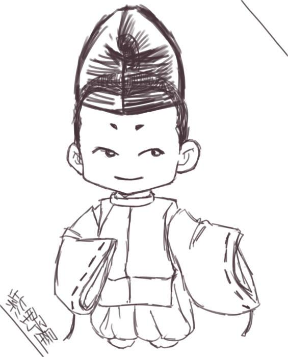 烏帽子狩衣(下書き)