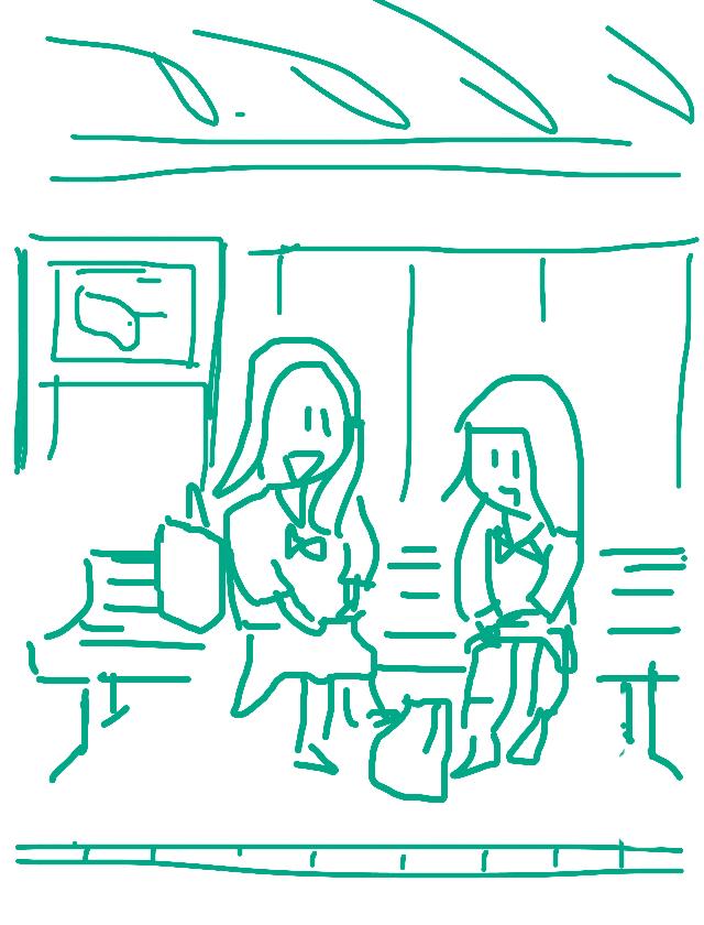 駅のベンチで3
