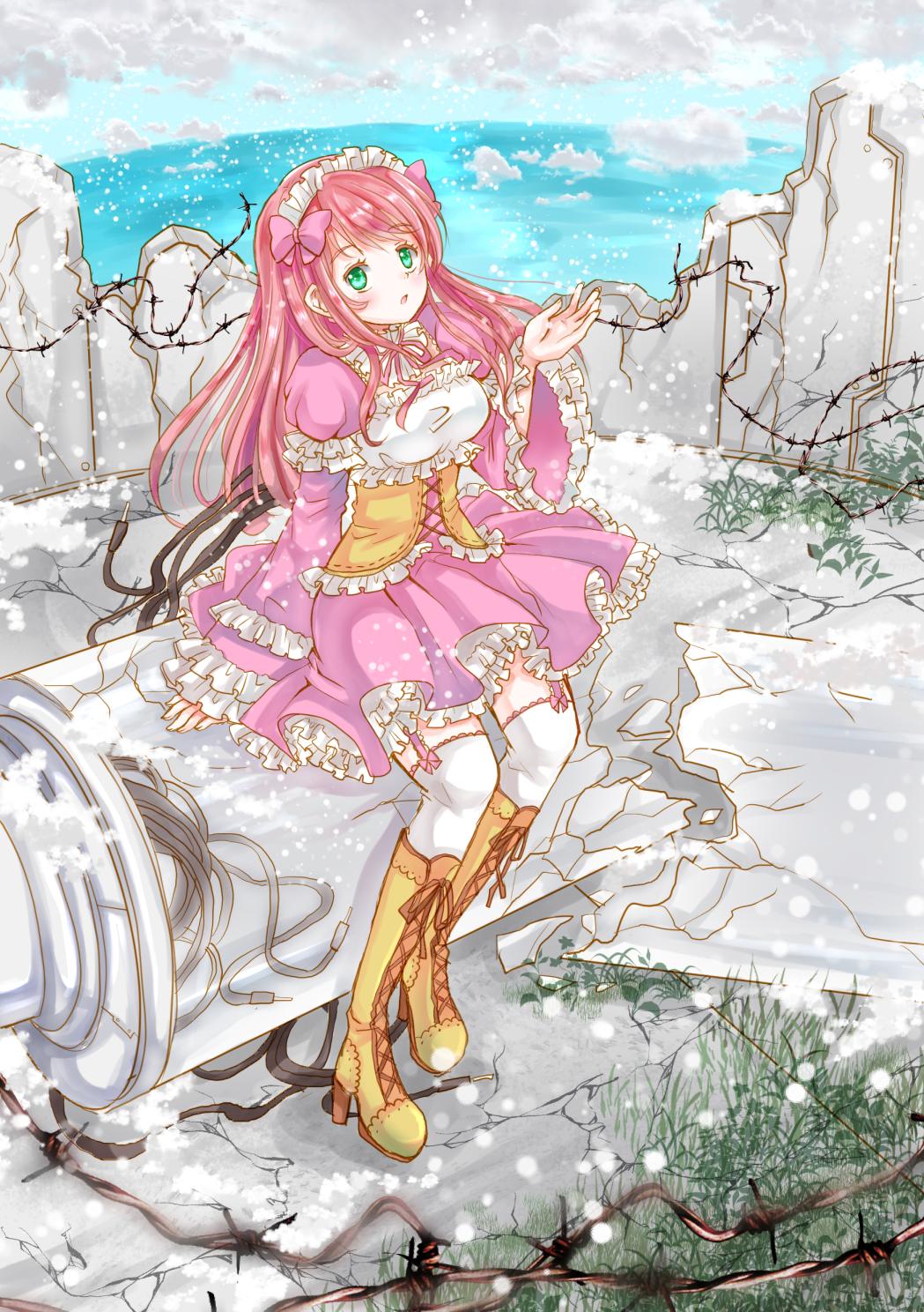 廃墟に降る雪