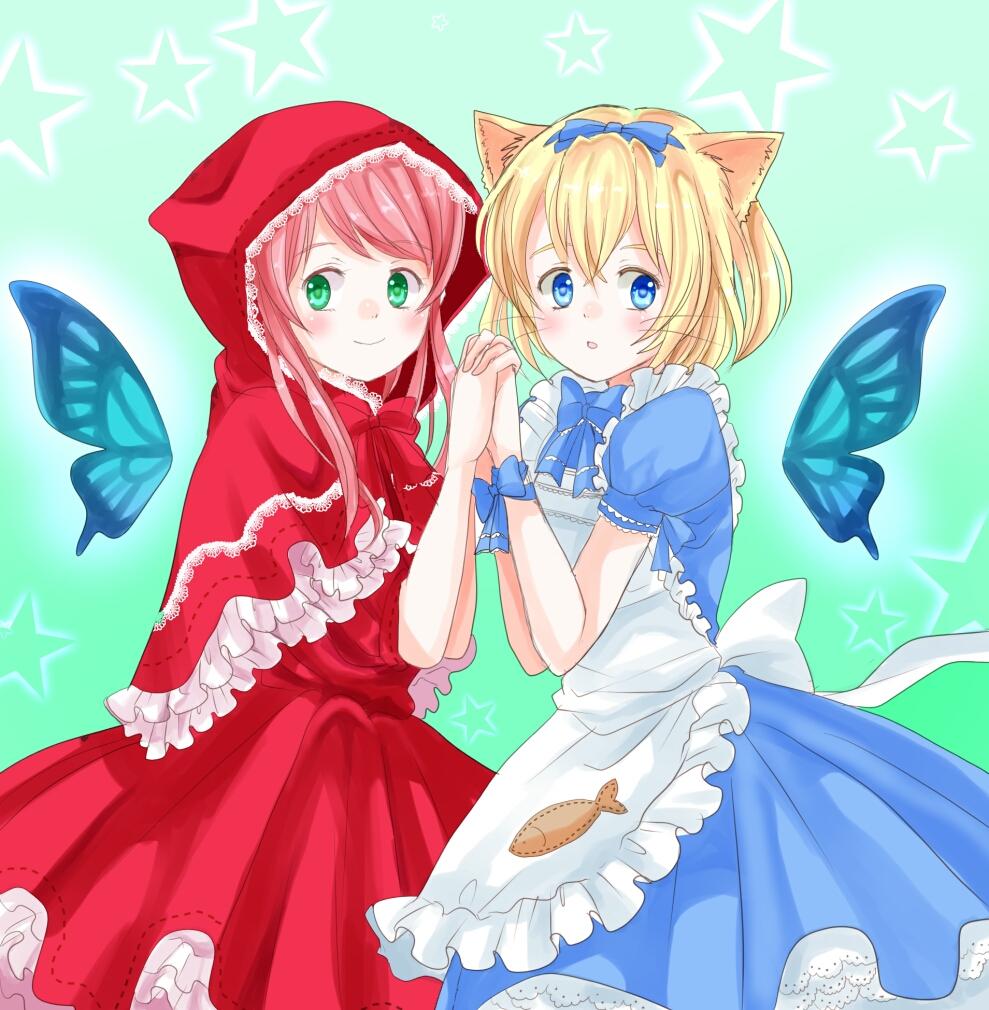アリスと赤ずきん(過去絵)