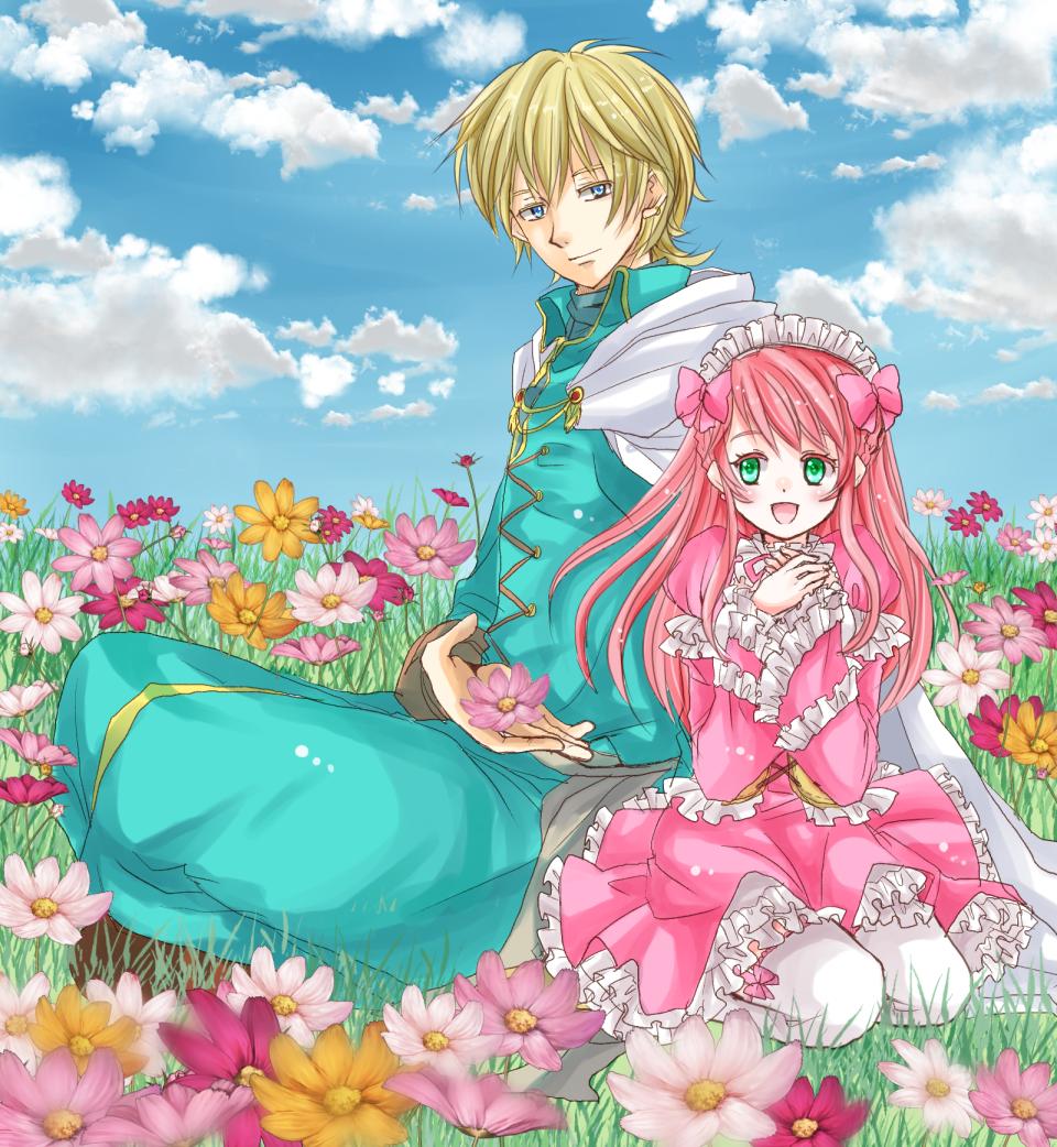 秋桜の中で(過去絵)