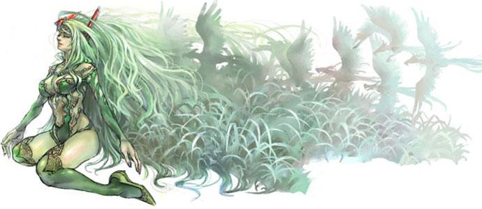 昔の絵 ~緑の仔