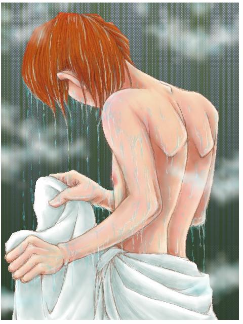 シャワーの後