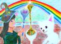 虹で作ったシャーベット