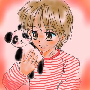 パンダと男の子