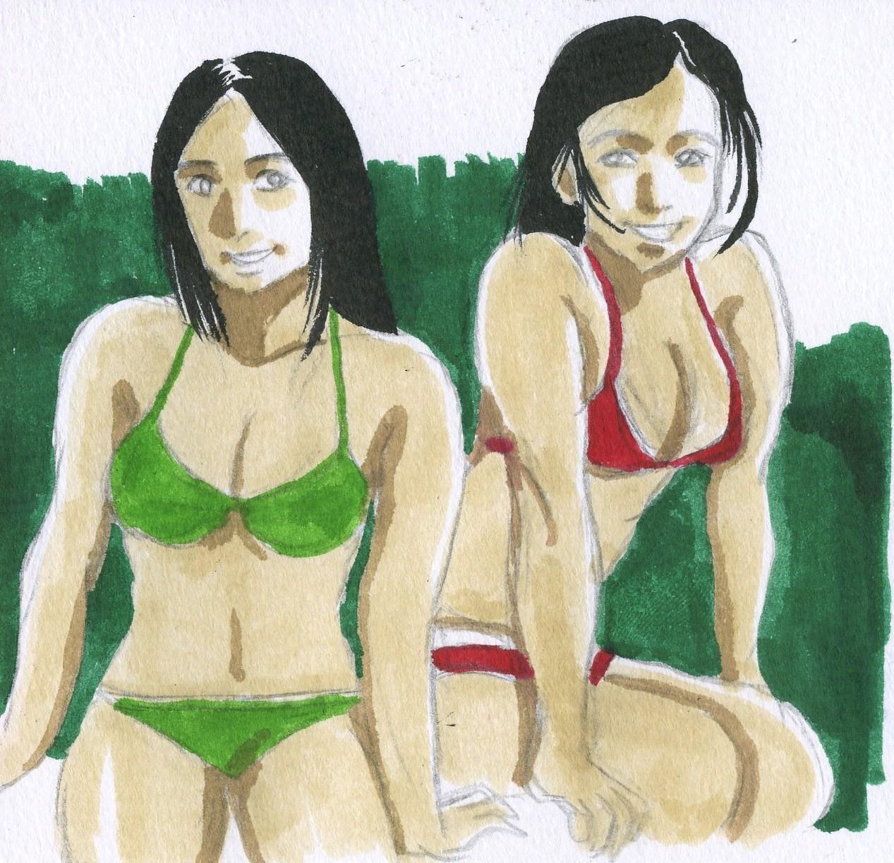 オリジナル水着女性画