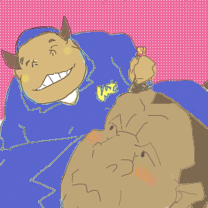みゆきちゃん(左)と カツヒコ