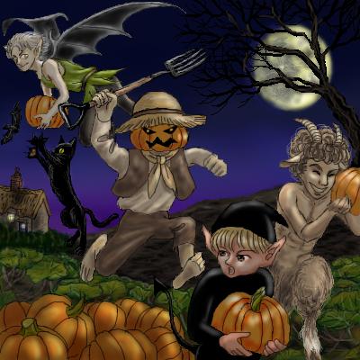 かぼちゃ泥棒にご用心