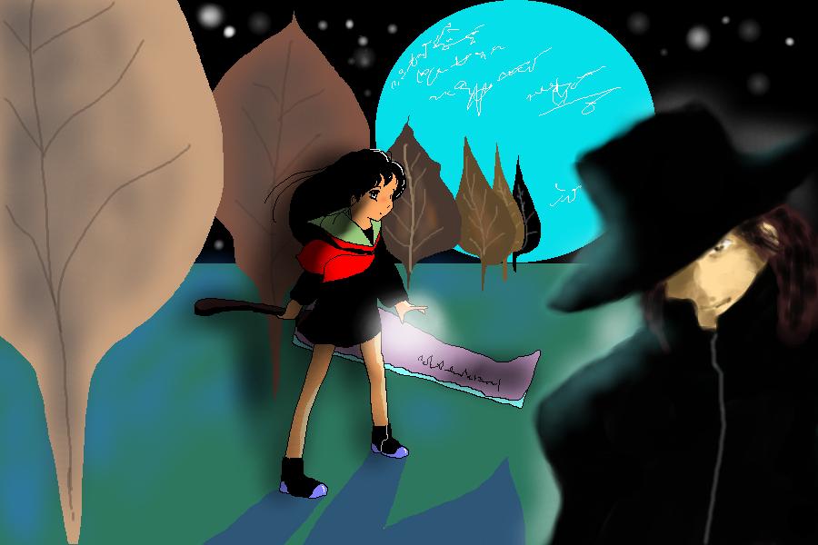 習作:幻想に沈む月