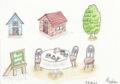 家やら木やらカフェやら