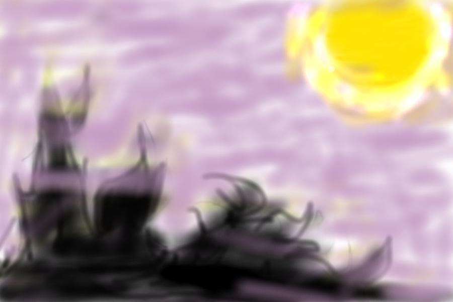 霞むゴミ山