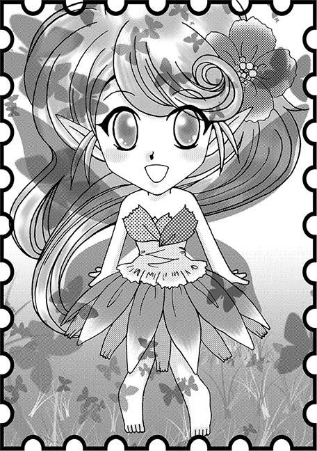 妖精さんモノクロ