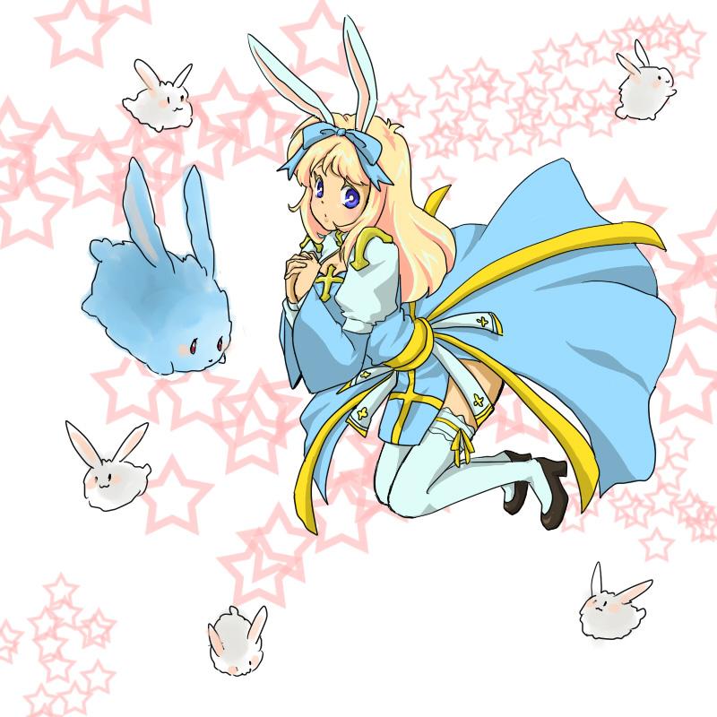 アークビショップとウサギ