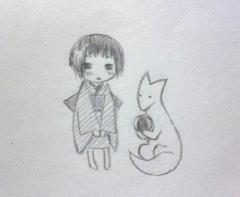 子日と白狐