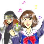 鶴姫ちゃんと小太郎