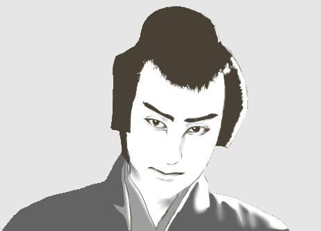 片岡千恵蔵(模写)