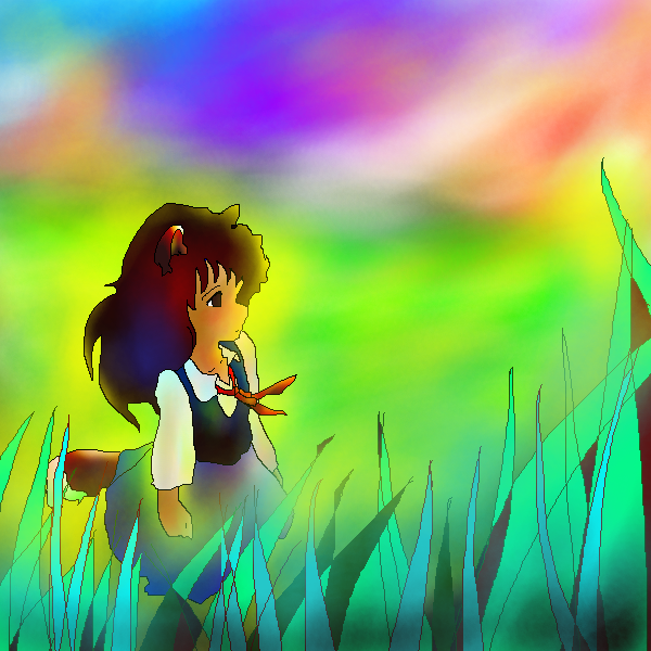 習作:染まる草原