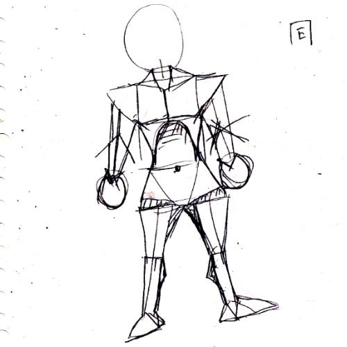 自分にわかりやすい胴体の簡略図