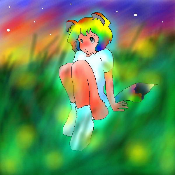 習作:草原のタヌ娘さん