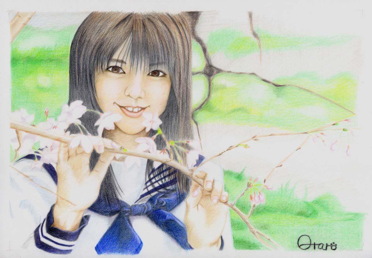 セーラー服の少女(桜)