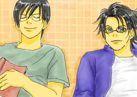 メガネな二人