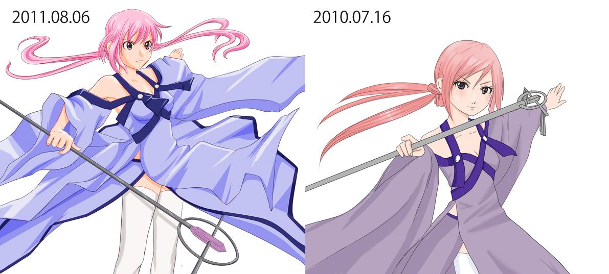 一年前の絵と同じようなものを描