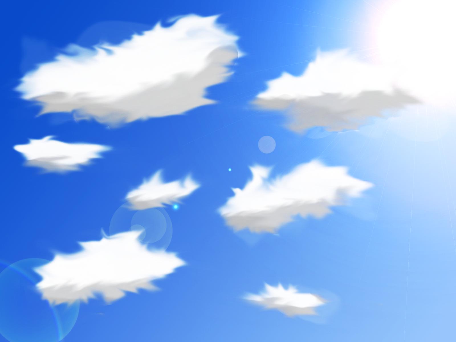 【背景素材2】雲1