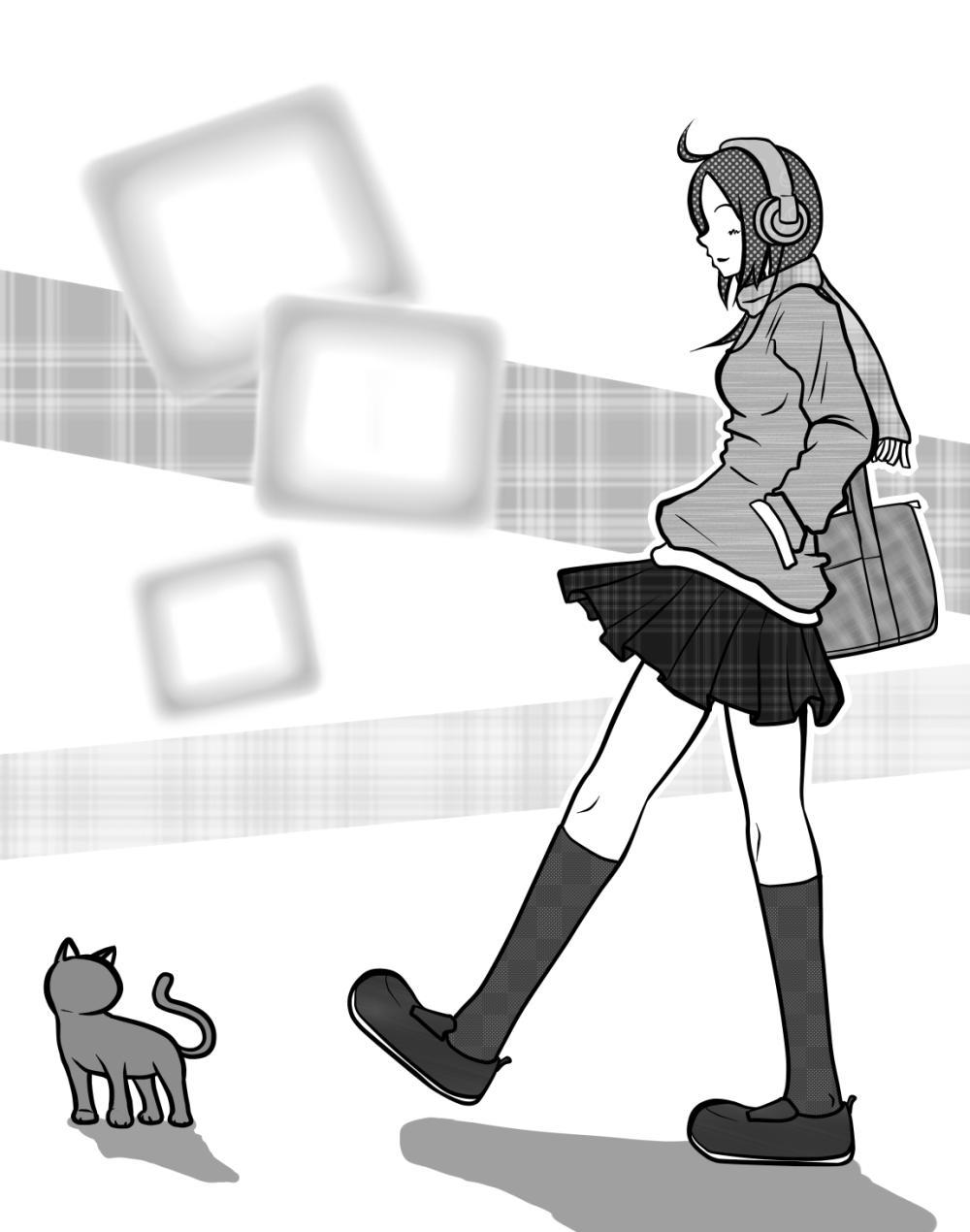 猫と鼻歌と帰り道