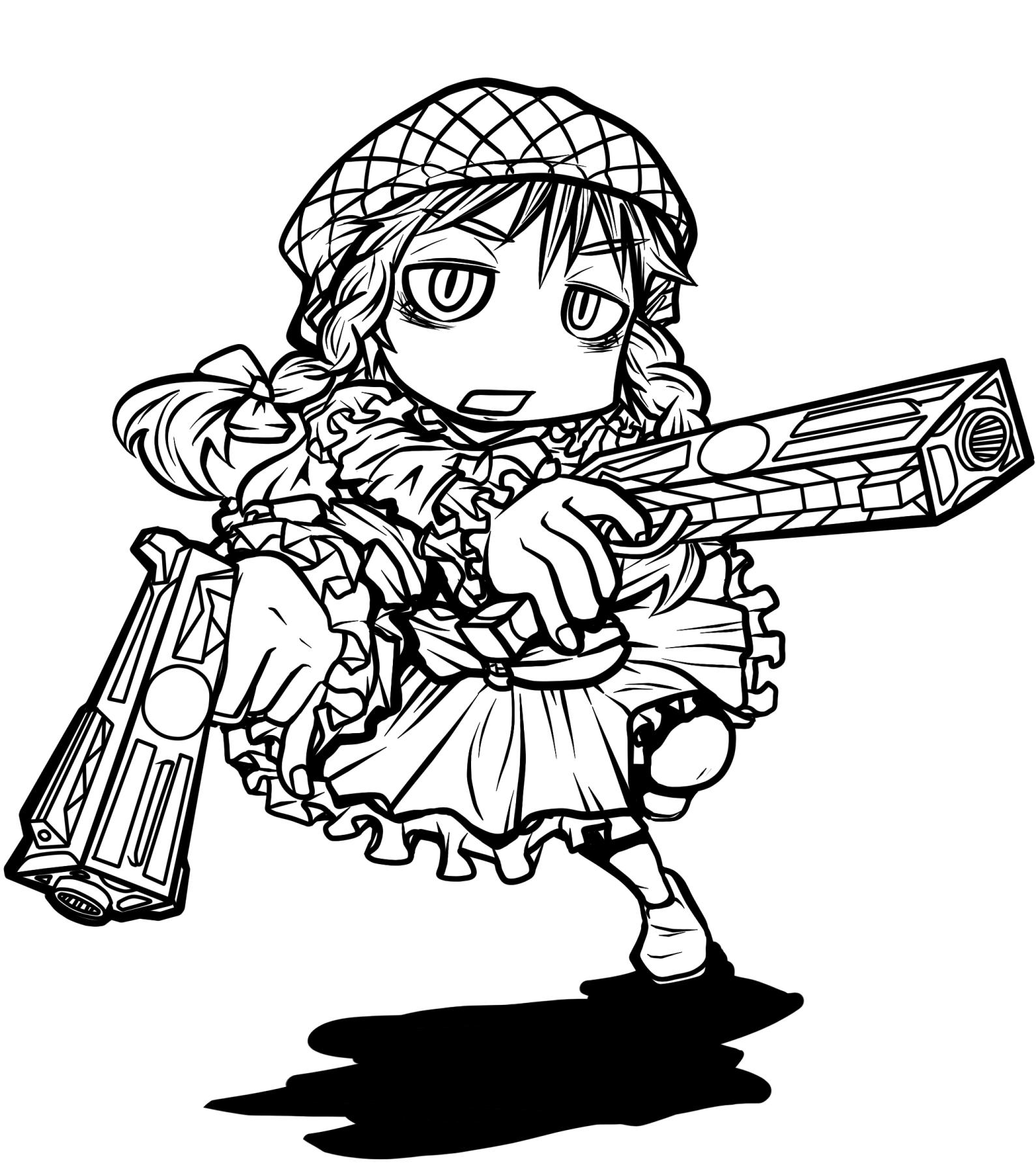 拳銃(チャカ)ずきんちゃん【塗り