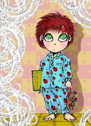水色パジャマ
