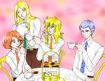イラストお題「天使のお茶会」
